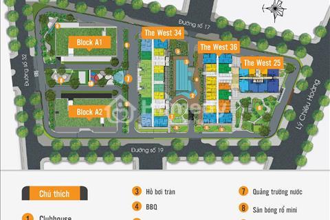 Căn hộ The Western Quận 6 tiện ích đầy đủ căn 2 phòng ngủ, giá 1,5 tỷ