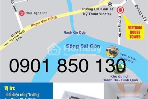 Căn hộ cao cấp ngay Phạm Văn Đồng, Linh Đông, Thủ Đức, bàn giao đầy đủ nội thất