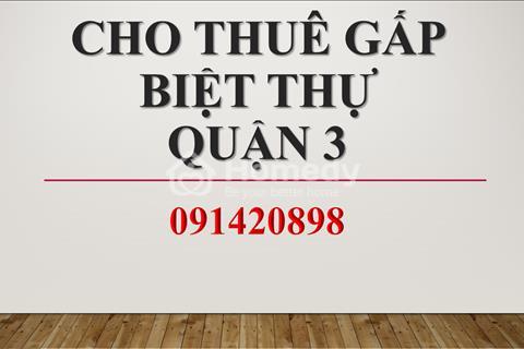 Cho thuê biệt thự đường Võ Văn Tần, Phường 6, Quận 3, 20x20m, giá thuê 85 triệu/tháng