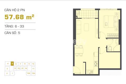 Chuyển nhượng căn hộ 2PN, giá 3,7 tỷ tại The Tresor Bến Vân Đồn