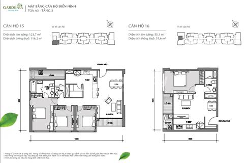 Cần sang nhượng lại căn hộ 52m2 tại A3 - Vinhomes Gardenia giá gốc