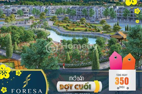 Bán biệt thự giá rẻ khu đô thị Foresa Xuân Phương giá chỉ 45 triệu/m2