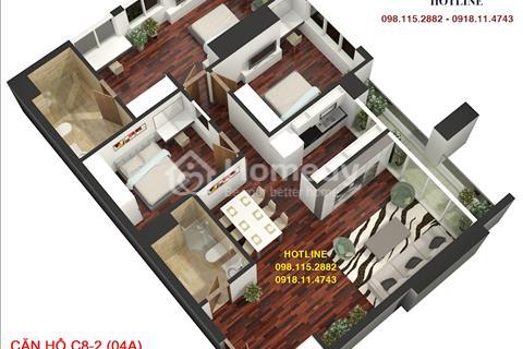 Chính chủ đầu tư bán căn góc tòa A Golden Land tầng 6, diện tích 131.78m2, giá 27.9 triệu/m2