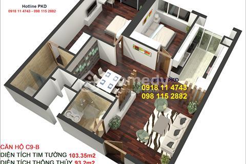 Bán căn 103m2 chung cư Golden Land 3 phòng ngủ, thanh toán 30% của 2.9 tỷ nhận nhà