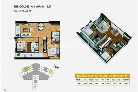Chính chủ CH 02 tầng 24 D/A The Golden An Khánh nhận nhà trước tết, bán cắt lỗ chinh chủ