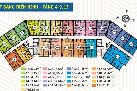 Bán căn hộ 54m2 2 phòng ngủ dự án HQC Bình Trưng Đông