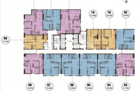 Chính chủ bán gấp 2 căn ở FLC Quang Trung, 1509 (61m2) và 1508 (76m2), giá 18,5 triệu/m2