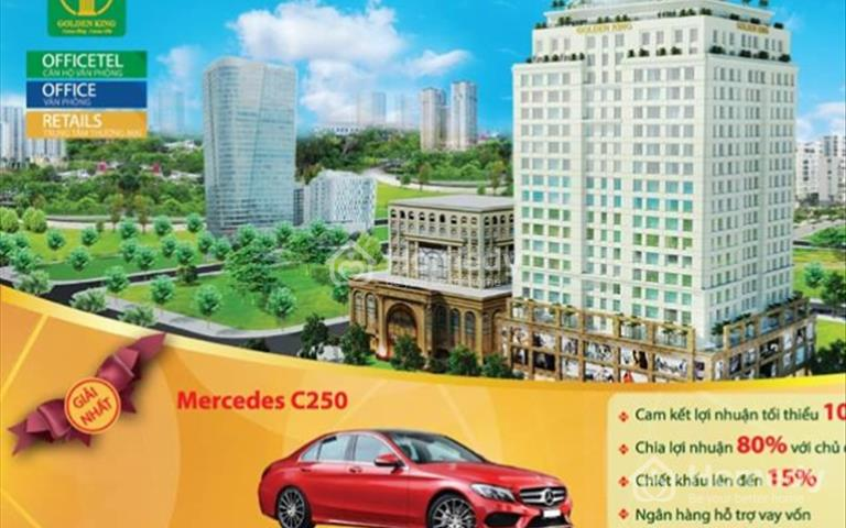 Chiết khấu ngay 400 triệu/căn khi mua căn hộ văn phòng Golden King quận 7, 34m2