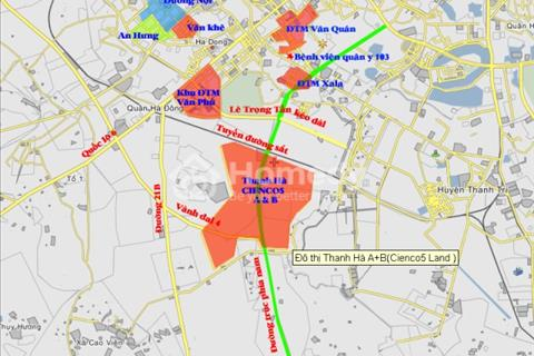 Bán đất biệt thự, liền kề dự án Thanh Hà Mường Thanh - Cienco 5 tự xây, giá ngoại giao