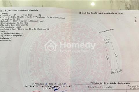 Bán B2.7 Phú Mỹ An quận Ngũ Hành Sơn Đà nẵng 1 tỷ 050 triệu