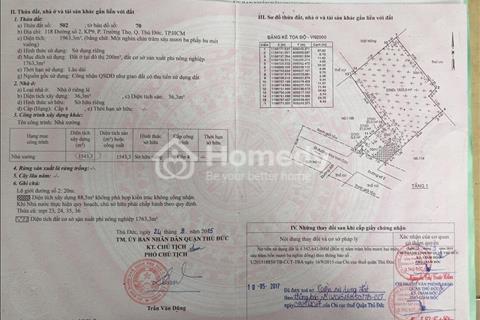 Bán lô đất 1366m2 giá 35 triệu/m2 tại phường Trường Thọ, Thủ Đức
