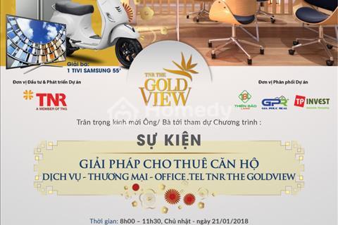 The Gold View, Tặng 5 năm gói tiện ích, Căn 2PN- 2.4 TỶ (VAT) + Chiết khấu lên đến 9%