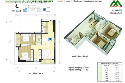 Cần cho thuê căn hộ chung cư Xuân Mai Riverside