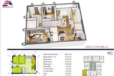 Bạn muốn mua căn hộ 3PN nhưng tài chính dưới 2 tỷ,hãy đến với eco green tower số 1 giáp nhị