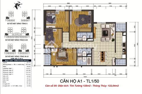 GoldSilk Vạn Phúc chỉ 17 triệu/m2, cắt lỗ, bán gấp căn 128m2, thiết kế 4 phòng ngủ, thông thoáng