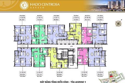 Kẹt tiền bán lỗ căn 2 phòng ngủ block Jasmine 2 - Hà Đô, giá chỉ 3,4 tỷ (có VAT)