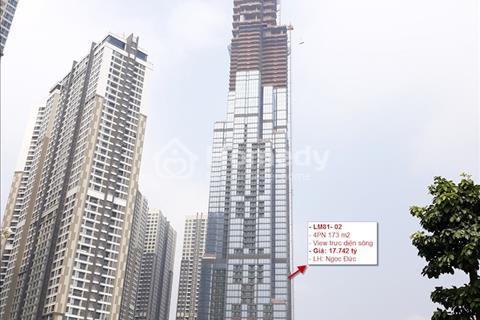 Bán gấp căn hộ Landmark 81 giá gốc chủ đầu tư, căn 4 phòng ngủ 173m2 view trực diện sông