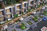 Tuyến đường nội khu hiện đại cùng cơ sở hạ tầng đồng bộ tại shophouse Halla Jade Residences.