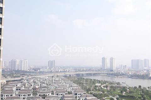 Căn hộ Vinhomes tòa Park 5, 3 phòng ngủ 115m2, view biệt thự sông Sài Gòn, giá thuê 1300 USD/tháng