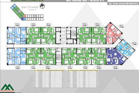Cắt lỗ 300 triệu căn 1010, diện tích 61,7m2, tòa K căn hộ Xuân Mai Complex Dương Nội, 16 triệu/m2