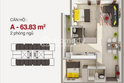 Chính chủ cho thuê chung cư 8X Rainbow 2 phòng ngủ, 2 nhà vệ sinh, 63m2, 6 triệu/tháng nhà mới 100%