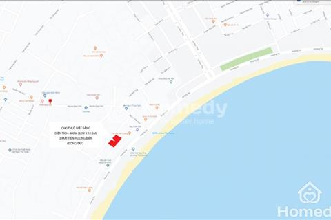 Cho thuê mặt bằng hướng biển 2 mặt tiền thích hợp mở spa, nhà hàng, shop