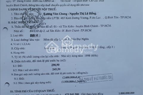 Cần bán gấp nhà kho hẻm xe tải đường Trần Đại Nghĩa, Tân Kiên, Bình Chánh, 300m2, giá 6.8 tỷ