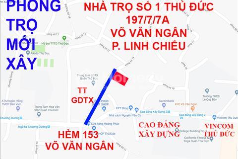 Phòng trọ mới xây hẻm Võ Văn Ngân gần Vincom Thủ Đức sạch đẹp