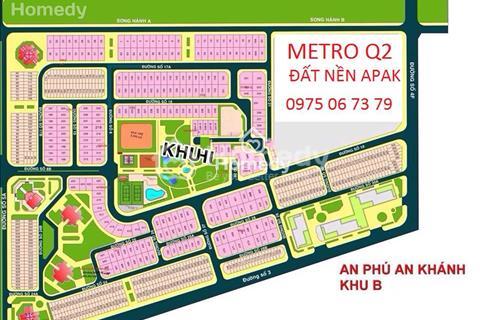 Bán gấp đất An Phú An Khánh, khu 10x20m, đối diện công viên, 85 triệu/m2