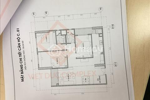Bán căn hộ chung cư 126,6m2, có bể bơi 4 mùa, 3 phòng ngủ thoáng