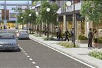Đường nội khu dự án được quy hoạch đồng bộ, hiện đại, rộng rãi với vỉa hè cùng cây xanh bao quanh mang đến không gian sống chuẩn đô thị.