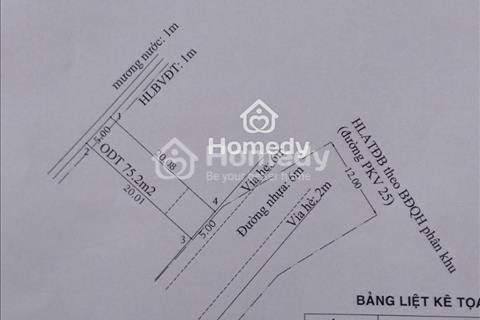 Đất An Phú, Thuận An, Bình Dương 100m2, đường nhựa 6m
