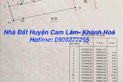 Cần bán gấp lô đất trên đường Lý Thái Tổ, Cam Đức, Cam Lâm