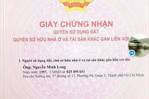 Chính chủ bán đất Cô Giang gần trung tâm Quận 1