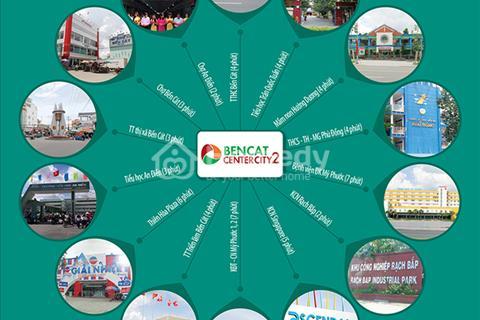 Khu đô thị Bến Cát City 2, mặt tiền Hùng Vương, xây tự do, tiện kinh doanh, sổ đỏ riêng