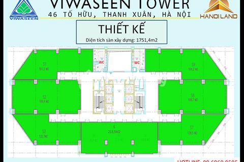 Sàn văn phòng tòa nhà Viwaseen 46 Tố Hữu giá chỉ 21 triệu/m2
