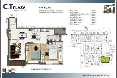 Cần bán căn hộ CT Plaza Nguyên Hồng ngay vòng xoay Lê Quang Định và Phạm Văn Đồng