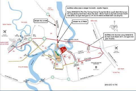King Bay - Nhơn Trạch, vị trí vàng, sát chân cầu quận 9, giá chỉ từ 11 triệu/m2