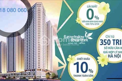 Chỉ đóng 350 triệu vào HĐMB, ở mà sinh lời với căn hộ cao cấp Eurowindow River Park Đông Trù