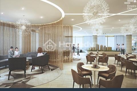 Bán căn hộ 2 phòng ngủ Empire City, view tòa tháp 86 tầng, 93m2, tháp T1A-Linden, 6.2 tỷ