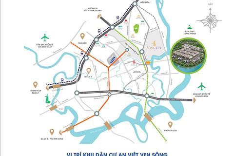 Đất Nền KDC An Việt 1,3 tỷ/58m2 - Kết Nối Trực Tiếp Vincity - 2 MT Sông - Đường 16m