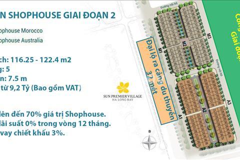 Mở bán Shophouse Sun Plaza Hạ Long giai đoạn II giá chỉ từ 8,9 tỷ/căn, cực đẹp cực hot
