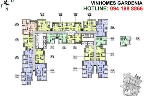 Chính chủ bán gấp căn Vinhomes Gardenia A1-2402 (105,8m2), A1-1809 (73,8m2), giá 31 triệu/m2