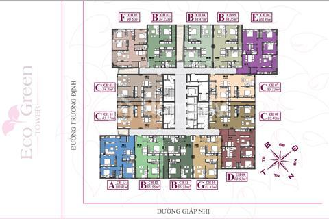 Bán suất ngoại giao căn hộ  Eco Green Tower Giáp Nhị giá 19,5 triệu/m2