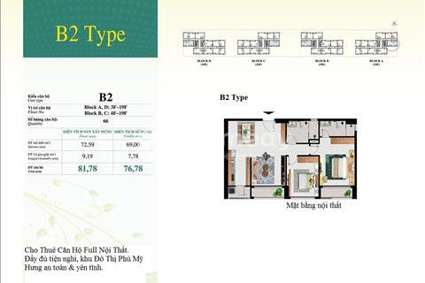 Cho thuê căn hộ Happy Residence - khu đô thị Phú Mỹ Hưng