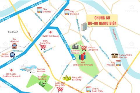 Chung cư NO 08 trung tâm quận Long Biên chỉ ba nốt nhạc đi ra quận Hoàn Kiếm, giá sốc 23 triệu/m2