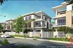 Các căn biệt thư, nhà phố có diện tích đa dạng từ 100 đến 450 m2 và xây dựng với kết cấu 01 trệt 02 lầu và mang phong cách resort riêng biệt.
