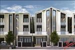 Thiết kế hiện đại của khu nhà phố với kết cấu 1 trệt 2 lầu cùng diện tích đa dạng đem đến nhiều lựa chọn cho các cư dân.