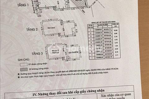 Cần bán nhà mặt tiền đường Phan Xích Long, Phường 3, Quận Phú Nhuận, diện tích 44m2, giá 11 tỷ