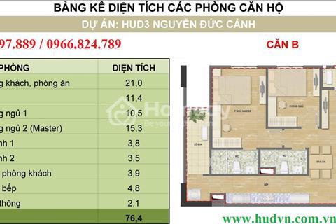 Bán suất ngoại giao chung cư HUD3 Nguyễn Đức Cảnh diện tích 72m2
